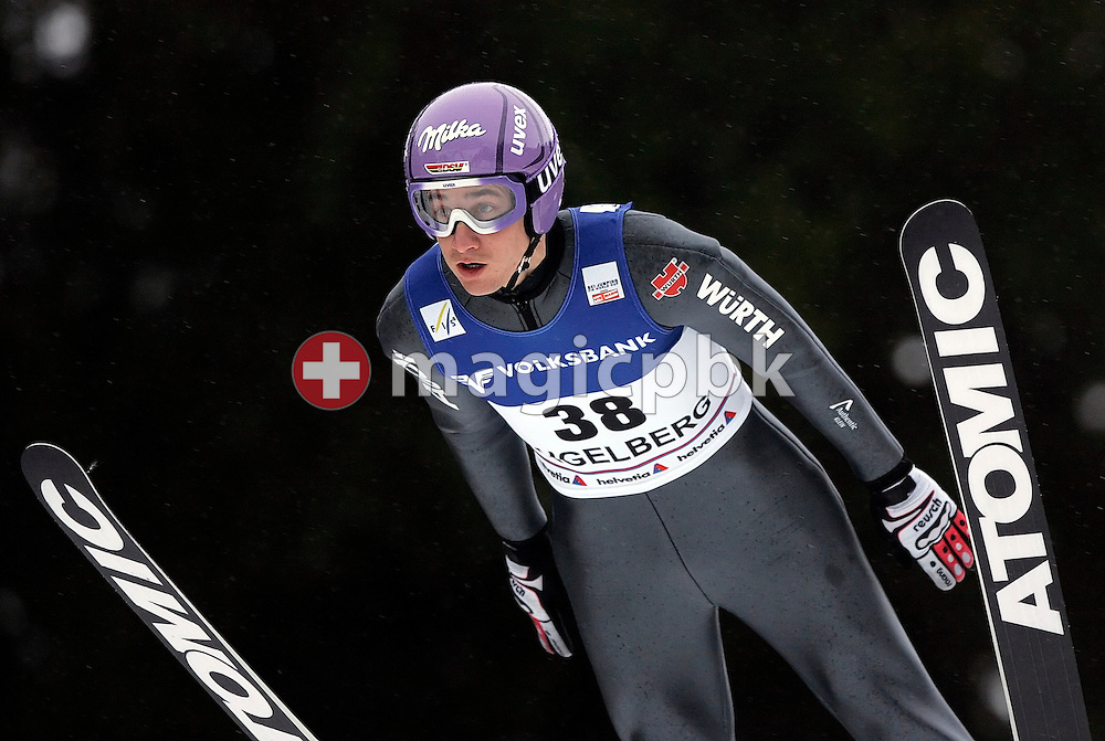 Later seventh placed Martin Schmitt of Germany during his first jump at the Ski Jumping World Cup in Engelberg, Switzerland, Saturday, Dec. 20, 2008. (Photo by Patrick B. Kraemer / MAGICPBK)