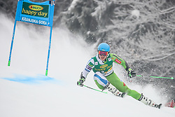 Forerunner Kristof Fabjan of Slovenia during 1st run of Men's GiantSlalom race of FIS Alpine Ski World Cup 57th Vitranc Cup 2018, on March 3, 2018 in Kranjska Gora, Slovenia. Photo by Ziga Zupan / Sportida