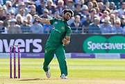 Hasan Ali of Pakistan bowling during the third Royal London One Day International match between England and Pakistan at the Bristol County Ground, Bristol, United Kingdom on 14 May 2019.
