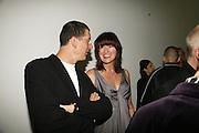 Anthony Gormley and Janet Street-Porter, Work by Mexican artist, Gabriel Orozco. Gallery opening & private view at new White Cube space, 25-26 Mason's Yard, London and afterwards at Claridges. London. 27 September 2006. <br />