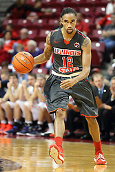 08 November 2015: Tony Wills(12). Illinois State Redbirds host the Southern Indiana Screaming Eagles and beat them 88-81 in an exhibition game at Redbird Arena in Normal Illinois (Photo by Alan Look)