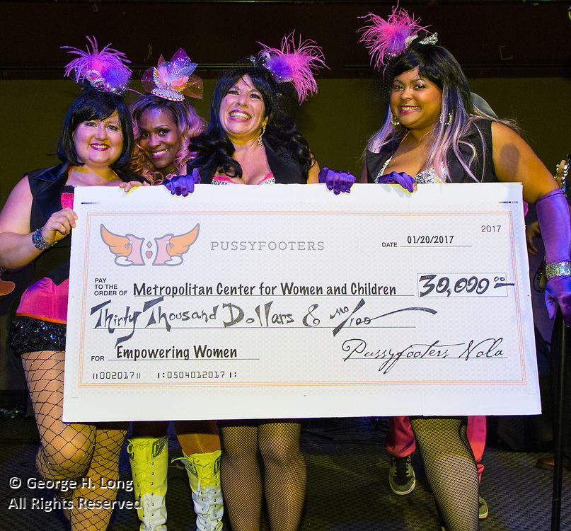The Pussyfooters raise $30,000 for the Metropolitan Center for Women and Children at their Blush Ball at Generations Hall on January 20, 2017