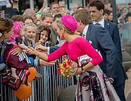 Urk , 29-06-2017 <br /> <br /> <br /> Regional visit to Northeast Flevoland of King WIllem-Alexander and Queen Maxima .<br /> <br /> PUBLISHING ONLY IN FRANCE<br /> <br /> COPYRIGHT: ROYALPORTRAITS EUROPE/ BERNARD RUEBSAMEN