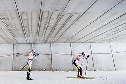 January 6, 2018 - Val Di Fiemme, ITALY - 180106 Jens Burman of Sweden and Marcus Hellner of Sweden compete in men's 15km mass start classic technique during Tour de Ski on January 6, 2018 in Val di Fiemme..Photo: Jon Olav Nesvold / BILDBYRN / kod JE / 160123 (Credit Image: © Jon Olav Nesvold/Bildbyran via ZUMA Wire)
