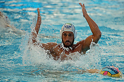 July 24, 2018 - Barcelona, Spain - Valentino Gallo (Italy) during the match between Italy and Russia, corresponding to the women group stage of the European Water Polo Championship, on 19th July, 2018, in Barcelona, Spain. (Credit Image: © Joan Valls/NurPhoto via ZUMA Press)