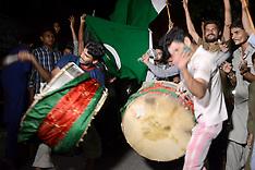 Pakistani cricket lovers celebrate win - 18 June 2017