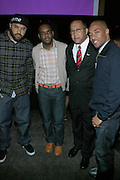 Ebro, Jermaine Hall, Dr. Benjamin Chavis Muhummad and Datwon Thomas at The Women in Entertainment Empowerment Network (WEEN) Signature, Fundraising series VIPink with An Exclusive Performance by Grammy Winning Super Producer/Songwriter Bryan-Michael Cox at the Boucarou Lounge on April 30. 2008.