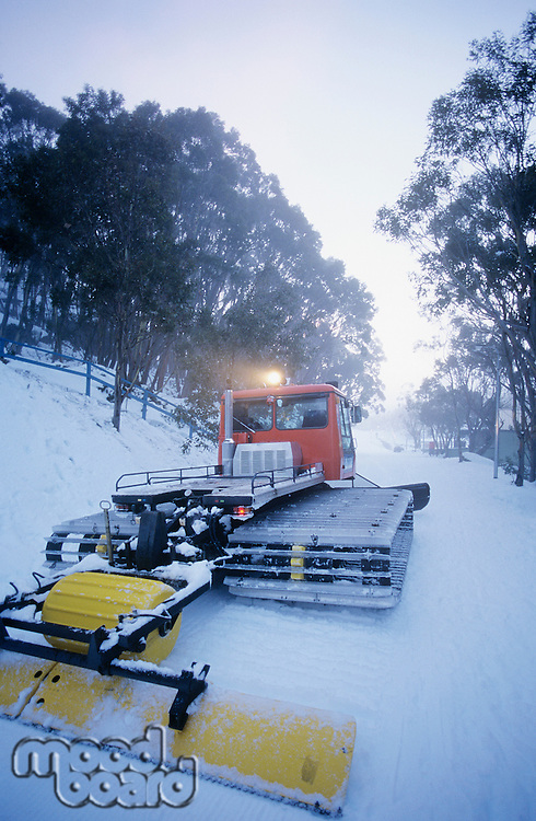 Snow clearing tractor Mt. Baw Baw Victoria Australia