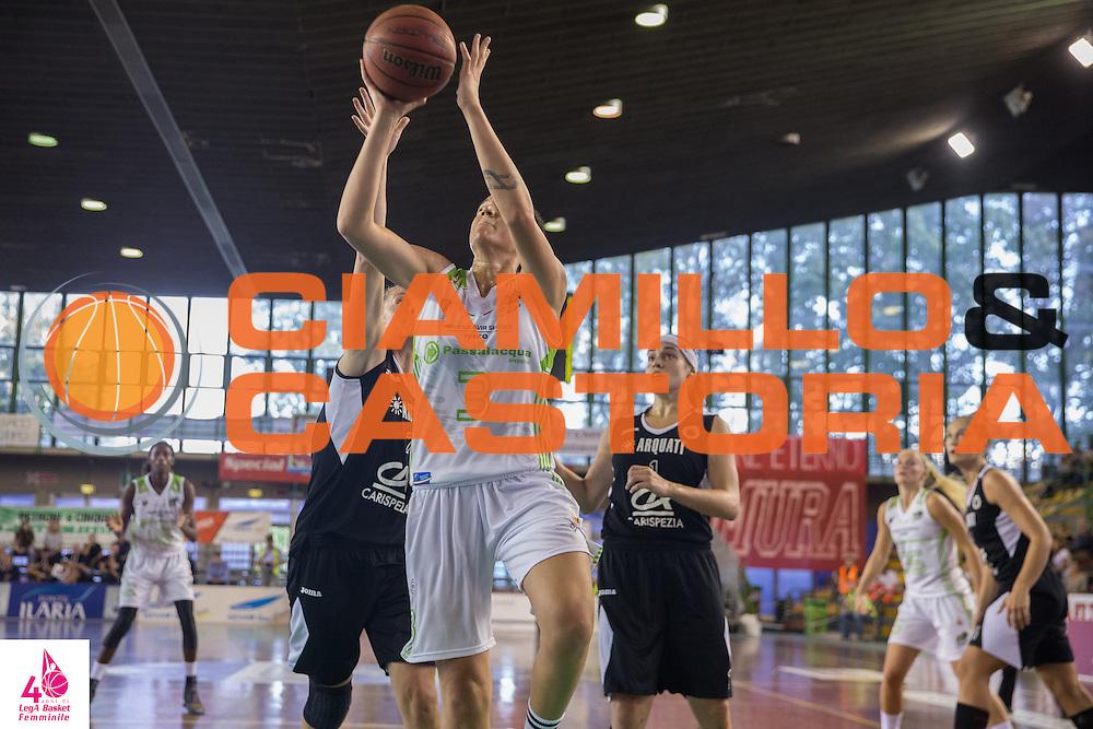 Laura Nicholls <br /> Carispezia La Spezia Passalacqua Ragusa<br /> LegA Basket Femminile 2016/2017<br /> Lucca, 02/10/2016<br /> Foto Elio Castoria/Ciamillo-Castoria