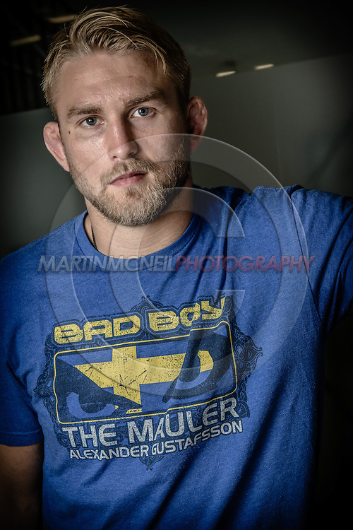 LONDON, ENGLAND, AUGUST 2, 2013: UFC light-heavyweight contender Alexander Gustafsson poses for a portrait inside Stars Gym in Battersea, London, England on Friday, August 2, 2013 © Martin McNeil