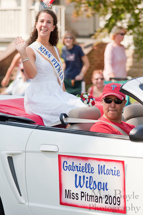Miss Pitman 2009 Gabrielle Marie Wilson waves to the crowd at Pitman's 2010 Fourth of July parade.