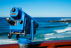 Public telescope at viewpoint Point Danger in Coolangatta Australia