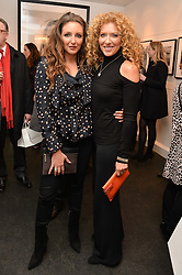 Left to right, NATASHA CORRETT and her mother KELLY HOPPEN at a private view of photographs 'Terry O'Neill-The Best Of' held at The Little Black Gallery, 13A Park Walk, London on 16th January 2014.