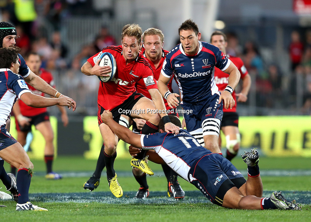 Andy Ellis of the Crusaders.  Crusaders v Rebels. 2013 Investec Super Rugby Season. AMI Stadium, Christchurch, New Zealand. Sunday 28 April 2013. Photo: Martin Hunter/Photosport.co.nz