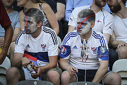 August 31, 2017 - Porto, Porto, Portugal - Ilhas Faroe fans during the FIFA World Cup Russia 2018 qualifier match between Portugal and Faroe Islands at Bessa Sec XXI Stadium on August 31, 2017 in Porto, Portugal. (Credit Image: © Dpi/NurPhoto via ZUMA Press)