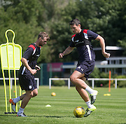 Dundee&rsquo;s Darren O&rsquo;Dea and Rory Loy during Dundee FC pre-season training at Dundee University Grounds, Riverside<br /> <br />  - &copy; David Young - www.davidyoungphoto.co.uk - email: davidyoungphoto@gmail.com