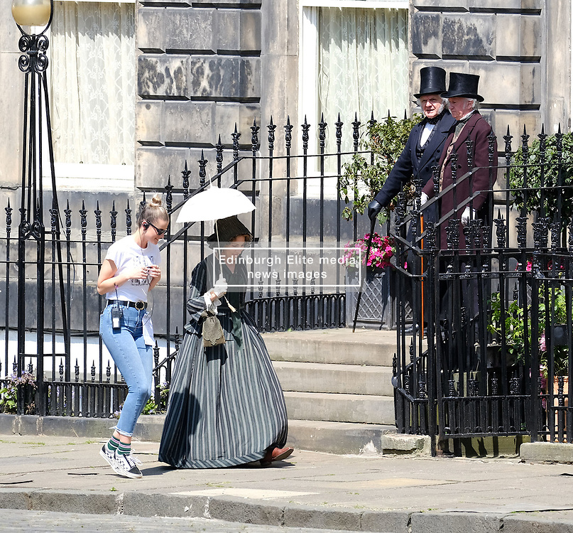 "Moray Place in Edinburgh's Georgian old town was turned into 19th century London for Julian Fellowes' new ITV show ""Belgravia"".<br />