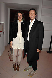 VISCOUNT MACMILLAN and ASTRID MUNOZ at the Art Plus Drama party Held at the Whitechapel Art Gallery, London E1 on 8th March 2007. <br />