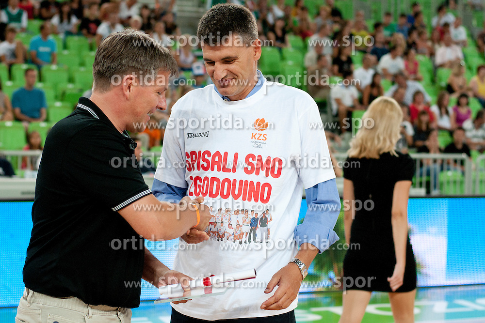 Velimir Perasovic during friendly basketball match between National teams of Slovenia and Croatia of Adecco Ex-Yu Cup 2012 as part of exhibition games 2012, on August 4, 2012, in Arena Stozice, Ljubljana, Slovenia. (Photo by Urban Urbanc / Sportida)