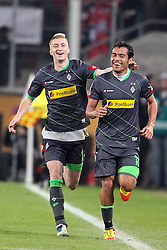 25.11.2011, Rhein Energie Stadion, Koeln, GER, 1.FBL, 1. FC Koeln vs Borussia Moenchengladbach, im BildTorjubel/ Jubel Juan Arango (Mönchengladbach #18) mit Marco Reuss (Mönchengladbach #11) nach dem 0:2 // during the 1.FBL, 1. FC Koeln vs Borussia Moenchengladbach on 2011/11/25, Rhein-Energie Stadion, Köln, Germany. EXPA Pictures © 2011, PhotoCredit: EXPA/ nph/ Mueller *** Local Caption ***..***** ATTENTION - OUT OF GER, CRO *****