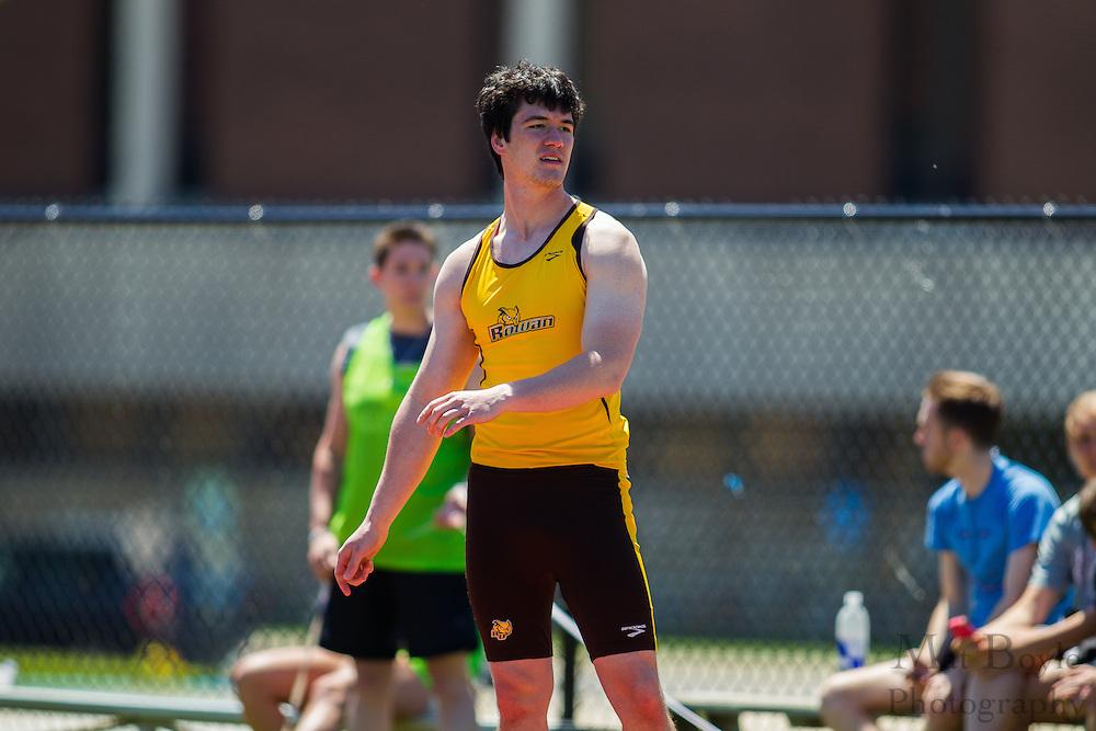 Rowan University freshman Joe Kelly competes in men's javelin at the NJAC Track and Field Championships at Richard Wacker Stadium on the campus of  Rowan University  in Glassboro, NJ on Saturday May 4, 2013. (photo / Mat Boyle)