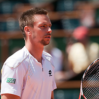 5 June 2009: Robin Soderling of Sweden is seen during the Men's Singles Semi Final match on day thirteen of the French Open at Roland Garros in Paris, France.