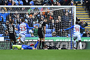 Goal - Leandro Bacuna (19) of Reading scores a goal to make the score 2-2 during the EFL Sky Bet Championship match between Reading and Leeds United at the Madejski Stadium, Reading, England on 10 March 2018. Picture by Graham Hunt.
