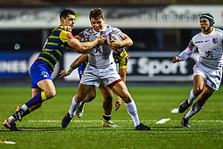 Paul Perez of Toulouse is tackled by Tomos Williams of Cardiff Blues - Mandatory by-line: Craig Thomas/JMP - 14/01/2018 - RUGBY - BT Sport Cardiff Arms Park - Cardiff, Wales - Cardiff Blues v Toulouse - European Rugby Challenge Cup