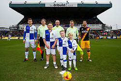 Mascot centre circle picture - Rogan Thomson/JMP - 11/02/2017 - FOOTBALL - Memorial Stadium - Bristol, England - Bristol Rovers v Bradford City - Sky Bet League One.