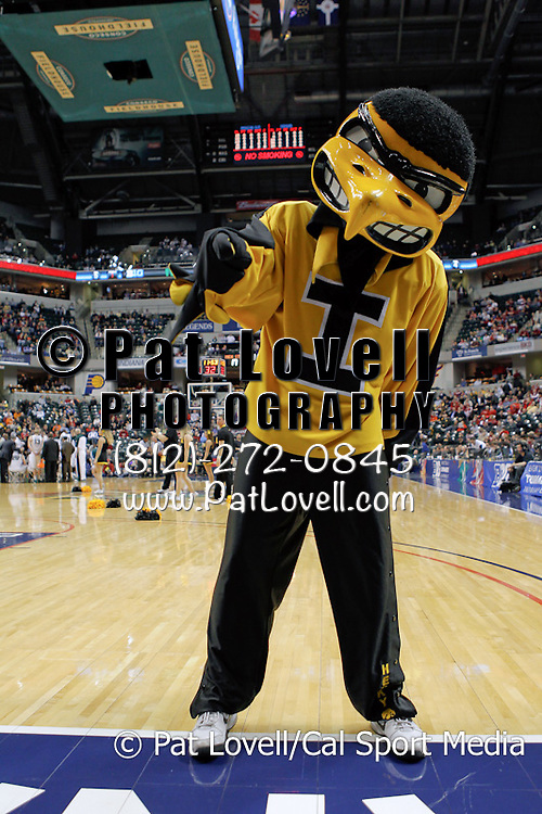 March 10, 2011: Iowa Hawkeye mascot during the Big Ten Men's basketball tournament at Conseco Fieldhouse in Indianapolis, IN in a game between Michigan State and Iowa.