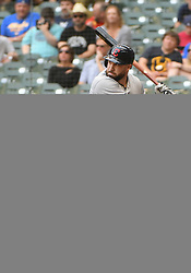 May 8, 2018 - Milwaukee, WI, U.S. - MILWAUKEE, WI - MAY 08: Cleveland Indians Second base Jason Kipnis (22) at the plate during a MLB game between the Milwaukee Brewers and Cleveland Indians on May 8, 2018 at Miller Park in Milwaukee, WI. The Brewers defeated the Indians 3-2.(Photo by Nick Wosika/Icon Sportswire) (Credit Image: © Nick Wosika/Icon SMI via ZUMA Press)