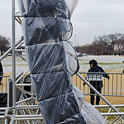 Images from the 2012 March for Life.Preparations at the National Mall for the arrival of the tens of thousands of Pilgrims on Monday.