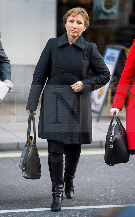 """©  London News Pictures. 28/01/2016. London, UK. MARINA LITVINENKO, wife of murdered Russian agent Alexander Litvinenko, arrives at The Home Office in London ahead of private talks with British home secretary Theresa May. The meeting comes a week after an official inquiry into her husband's death concluded that his killing was """"probably approved"""" by Russian president Vladimir Putin. Photo credit: Ben Cawthra/LNP"""
