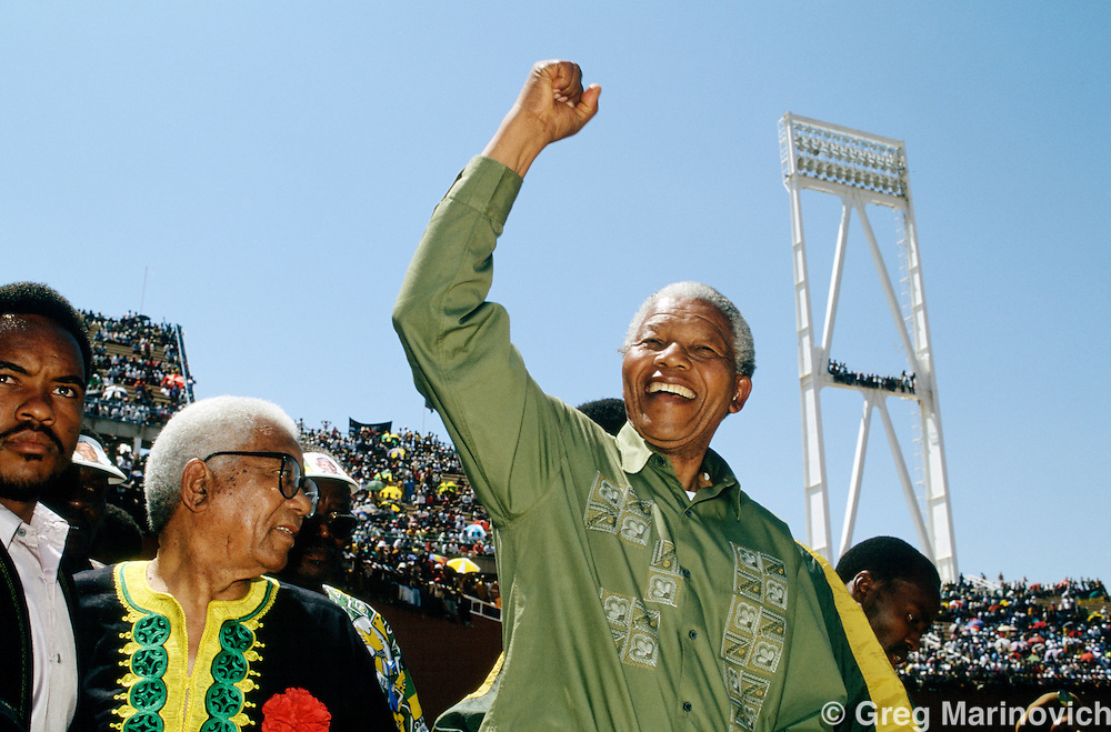 Nelson Mandela, on the campaign trail South Africa, 1994