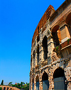 The Colosseum, or the Coliseum, originally the Flavian Amphitheatre in Rome, Italy. construction started in 72 AD under the emperor Vespasian and was completed in 80 AD under Titus. Capable of seating 50,000 spectators, the Colosseum was used for gladiatorial contests and public spectacles such as mock sea battles, animal hunts, executions, re-enactments of famous battles