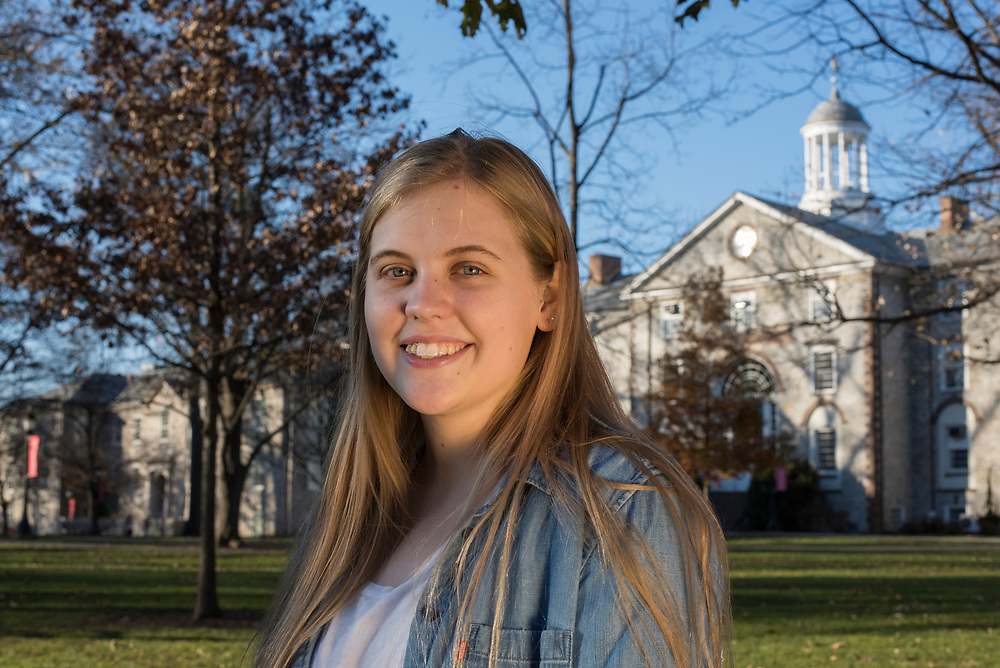 Sophie Kivlehan, a freshman at Dickinson College, is one of 21 young plaintiffs suing the federal government on climate change.