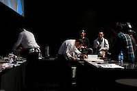 Spanish chef Albert Adria - working with Gianluigi Bonelli -  of restaurant El Bulli in Northern Spain was in Beijing at UCCA for a 3-day culinary event with chef Brian McKenna and chef Dadong.