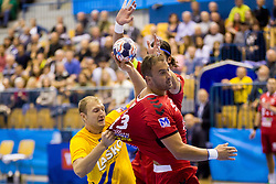 Ziga Mlakar of RK Celje Pivovarna Lasko during handball match between RK Celje Pivovarna Lasko and Telekom Veszprem in 1st round of VELUX EHF Champions League, on September 16, 2017 in Arena Zlatorog, Celje, Slovenia. Photo by Ziga Zupan / Sportida