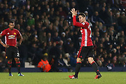 Ander Herrera Midfielder of Manchester United applauds the fans after being substituted during the Premier League match between West Bromwich Albion and Manchester United at The Hawthorns, West Bromwich, England on 17 December 2016. Photo by Phil Duncan.