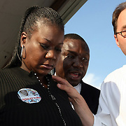 Sybrina Fulton, the mother of Trayvon Martin leaves the stage during a rally for the shooting of Trayvon Martin on Thursday,March 22, 2012 at Fort Mellon Park in Sanford, Florida. (AP Photo/Alex Menendez) Trayvon Martin rally in Sanford, Florida.