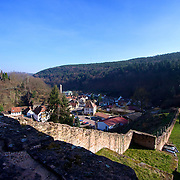 A commanding view of the Isenach valley and an important road below from Castle Hardenburg (circa 1214)