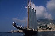 Classic week,sailing ships     Monaco       ///  Classic week, rassemblement de  voiliers et de bateaux à    Monaco    ///  R00286/40    L4104  /  R00286  /  P0007605