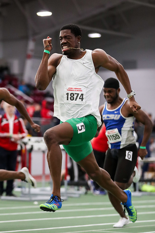 BU Terrier Indoor track meet<br /> Chidi Okezi, 60m wins
