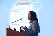 Kacey Ribnik gives instructions  during the  National Brain Tumor Society Head to the Hill training event at the Hilton Crystal City hotel in Arlington, VA on May 7, 2018. (Photo by Alan Lessig_