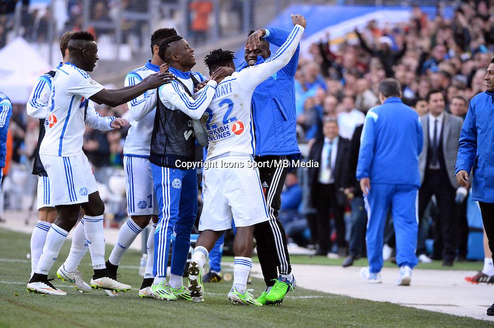 Joie Michy BATSHUAYI - 21.12.2014 - Marseille / Lille - 19eme journee de Ligue 1 -<br />Photo : Gaston Petrelli / Icon Sport