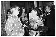 Princess Margaret and Prof. Brogden at R.C.A Fashion Show, 30.6.82© Copyright Photograph by Dafydd Jones 66 Stockwell Park Rd. London SW9 0DA Tel 020 7733 0108 www.dafjones.com