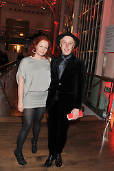 JAMES BROWN and ALEX BARLOW at One Night Changes Everything - a fundraising evening for the 2013 Comic Relief Campaign held at The Royal Opera House, London on 28th February 2013.