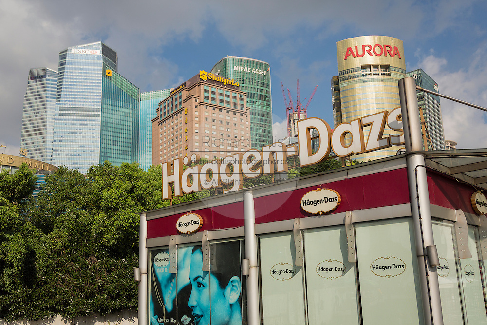 A Haagen Daz ice cream kiosk in Pudong, Shanghai, China