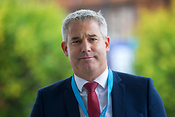 © Licensed to London News Pictures. 29/09/2019. Manchester, UK. Secretary of State for Exiting the European Union Stephen Barclay on first day of the Conservative Party Conference at Manchester Central in Manchester. Photo credit: Andrew McCaren/LNP