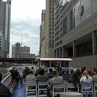 USA, Illinois, Chicago. Chicago River Cruise.